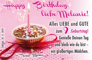 Happy Birthday, liebe Melanie!